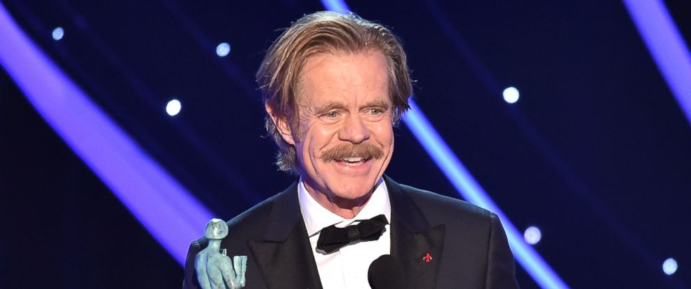 "PHOTO: William H. Macy accepts the award for outstanding performance by a male actor in a comedy series for ""Shameless"" at the 24th annual Screen Actors Guild Awards at the Shrine Auditorium & Expo Hall, Jan. 21, 2018, in Los Angeles."
