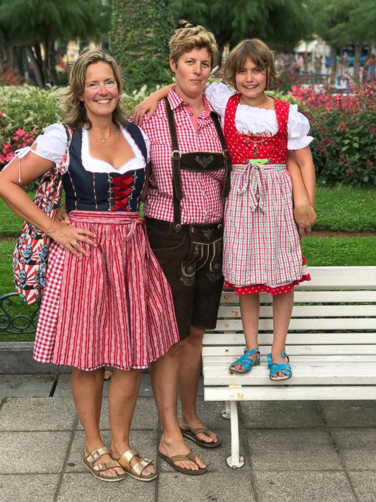 PHOTO: Sally Kohn with her partner Sarah and daughter Willa while vacationing in Europe.