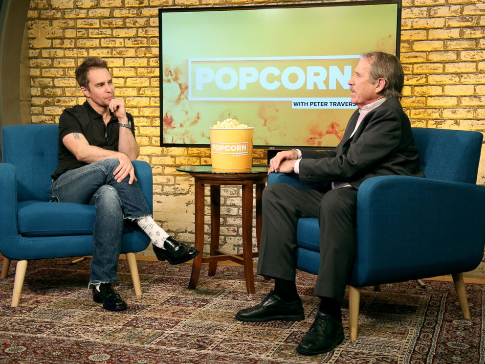 PHOTO: Sam Rockwell appears on Popcorn with Peter Travers at ABC News studios, Nov. 17, 2017, in New York City.