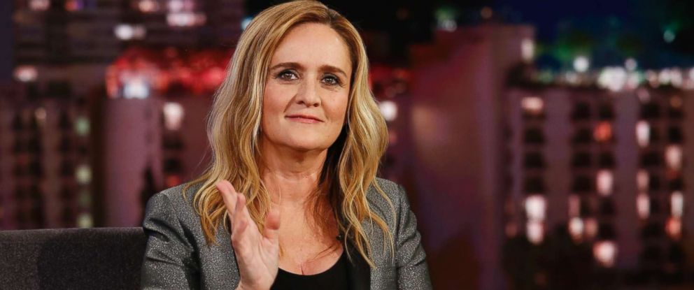"PHOTO: Samantha Bee appears on ""Jimmy Kimmel Live!"" on May 24, 2018."