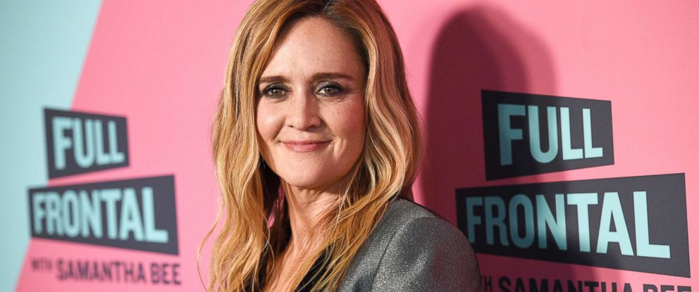 "PHOTO: Samantha Bee, host of ""Full Frontal with Samantha Bee,"" poses at the Writers Guild Theater, May 24, 2018, in Beverly Hills, Calif."