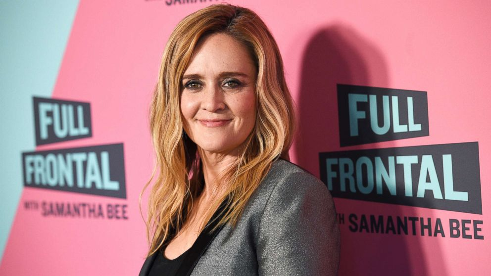 """Samantha Bee, host of """"Full Frontal with Samantha Bee,"""" poses at the Writers Guild Theater, May 24, 2018, in Beverly Hills, Calif."""