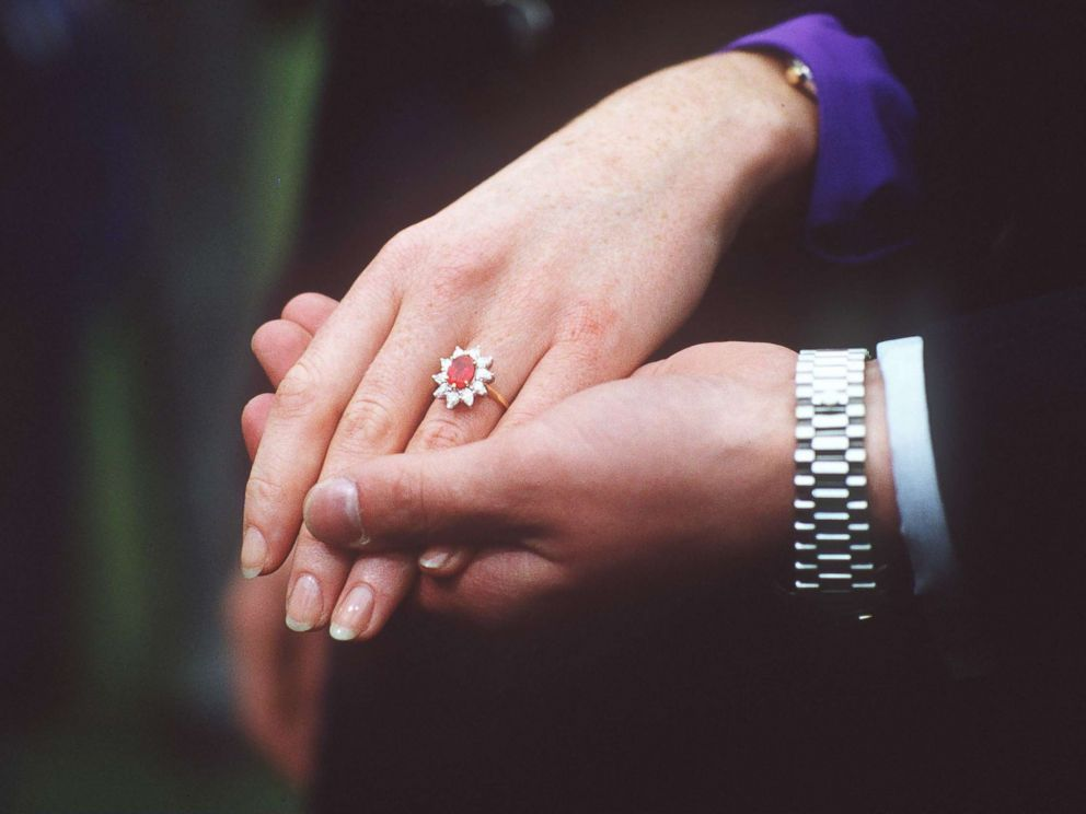 PHOTO: Duchess of Yorks diamond and ruby engagement ring.