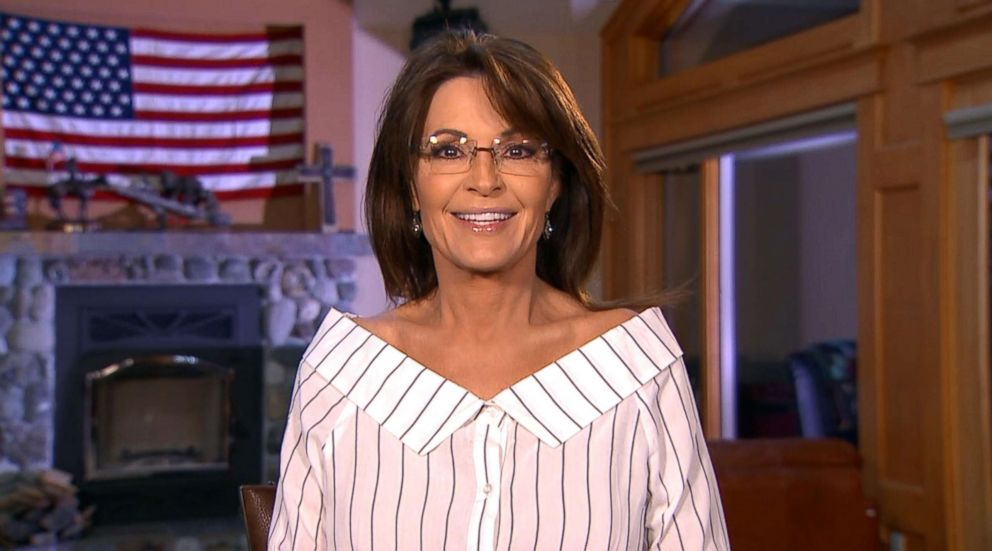 PHOTO: Former Republican vice presidential candidate Sarah Palin speaks on Good Morning America about her interview with Sacha Baron Cohen for his Showtime series.