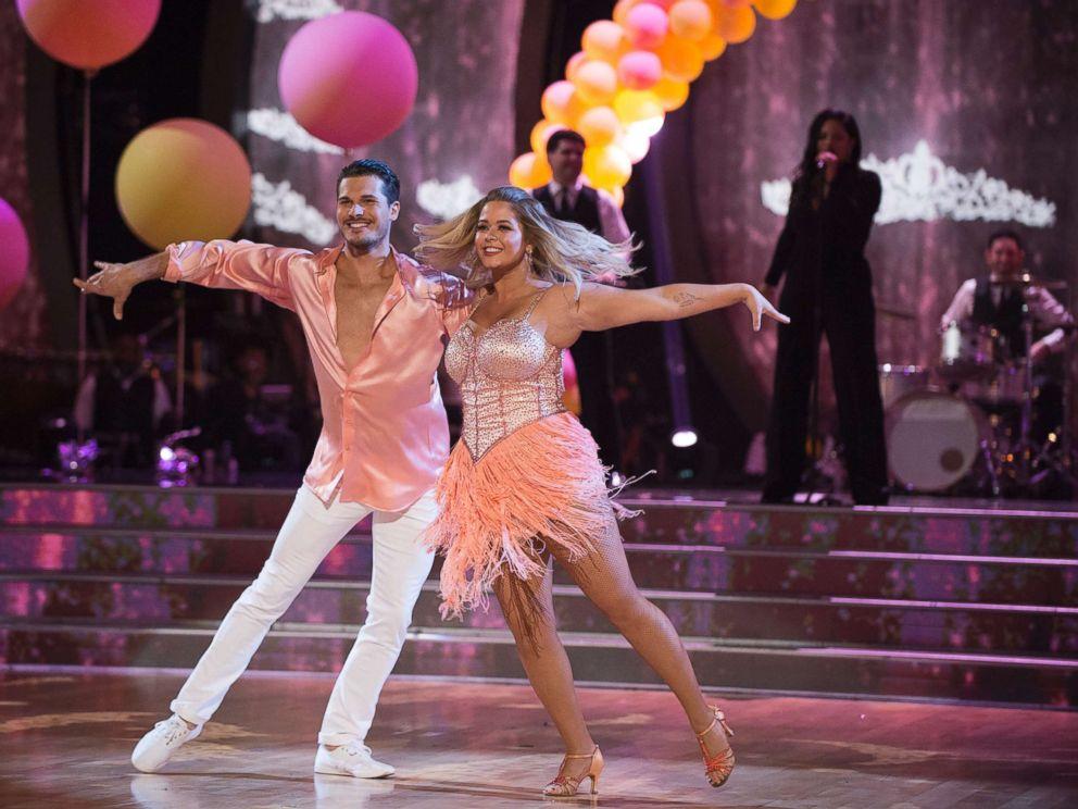 PHOTO: Sasha Pieterse dances with Gleb Savchenko on Dancing with the Stars on Sept. 26, 2017.