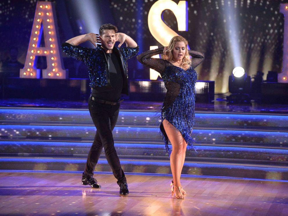 PHOTO: Sasha Pieterse dances with Gleb Savchenko on Dancing with the Stars on Sept. 18, 2017.