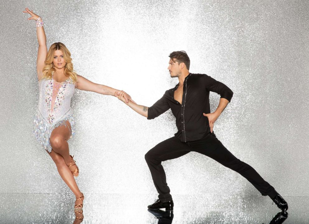 PHOTO: Sasha Pieterse and pro dancer Gleb Savchenko will compete for the mirror ball title on the new season Dancing With The Stars.