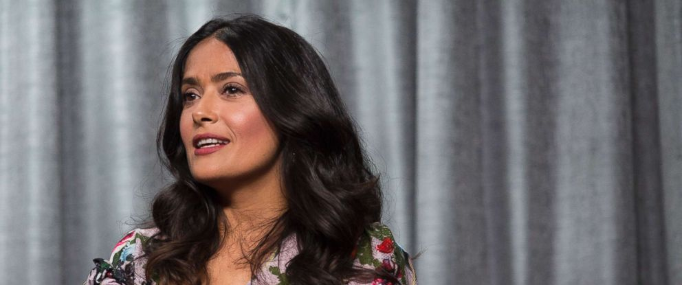 PHOTO: Salma Hayek attends SAG-AFTRA Foundation Conversations, Nov. 15, 2017, in Los Angeles.