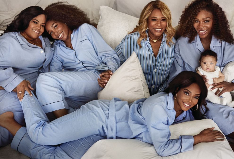 PHOTO: Mario Testino photographed Serena Williams with her daughter and family members for Vogue magazine.