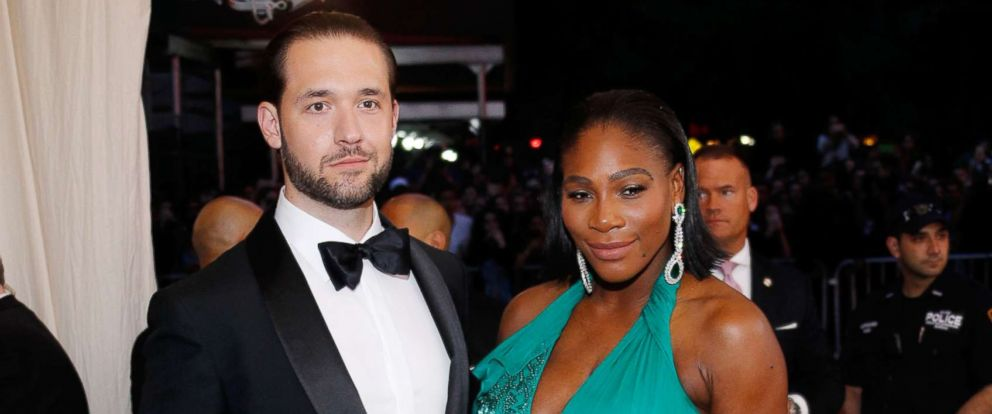 PHOTO: Alexis Ohanian and Serena Williams at Rei Kawakubo/Comme des Garcons: Art of the In-Between Costume Institute Gala at Metropolitan Museum of Art on May 1, 2017 in New York.