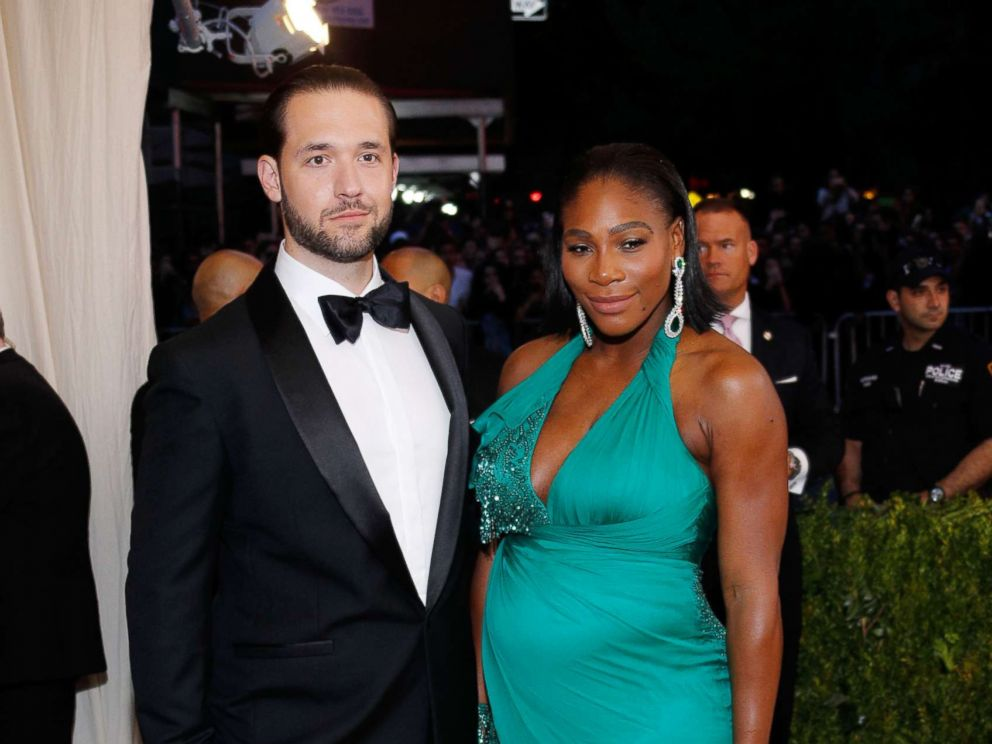 PHOTO: Alexis Ohanian and Serena Williams at Rei Kawakubo/Comme des Garcons: Art of the In-Between Costume Institute Gala at Metropolitan Museum of Art in this May 1, 2017 file photo in New York.