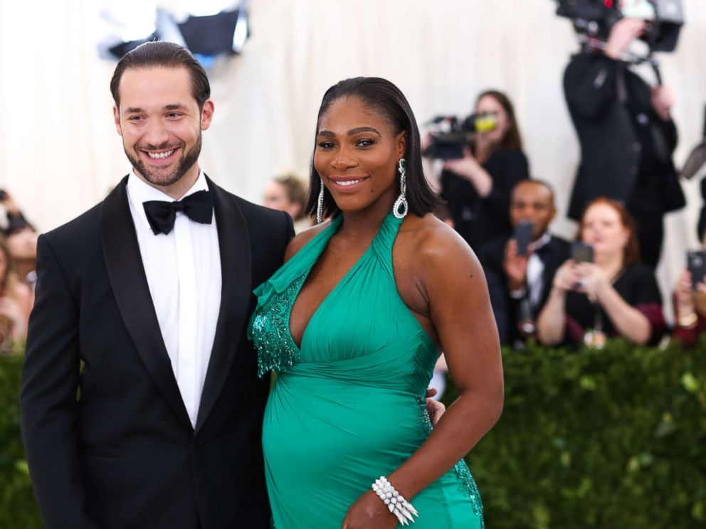 PHOTO: Serena Williams and Alexis Ohanian attend The Metropolitan Museum of Arts Costume Institute Benefit celebrating the opening of Rei Kawakubo/Comme des Garcons: Art of the In-Between in New York, May 1, 2017.