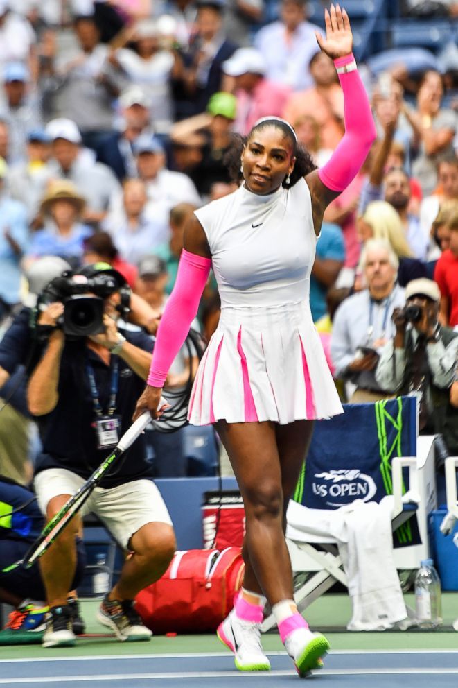 PHOTO: Serena Williams celebrates after defeating Yaroslava Shvedova of Kazakhstan during their US Open Womens Singles match in New York on Sept. 5, 2016.