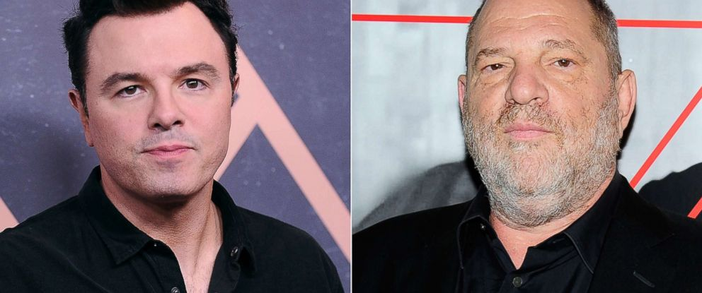 PHOTO: Seth MacFarlane attends an event on Sept. 25, 2017, in West Hollywood | Harvey Weinstein attends an event on Sept. 7, 2017, in New York City.