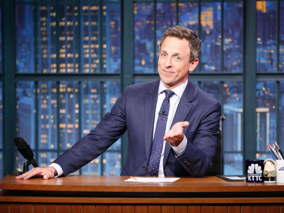 Seth Meyers Wife Gave Birth in the Couple's Apartment Lobby