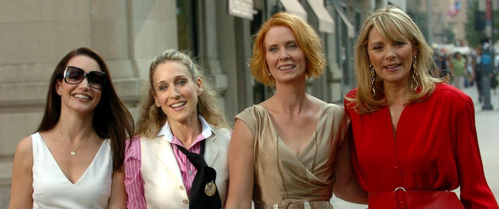 "PHOTO: From left; Kirsten Davis, as Charlotte York, Sarah Jessica Parker, as Carrie Bradshaw, Cynthia Nixon, as Miranda Hobbes and Kim Cattrall, as Samantha Jones, star in ""Sex and the City."""