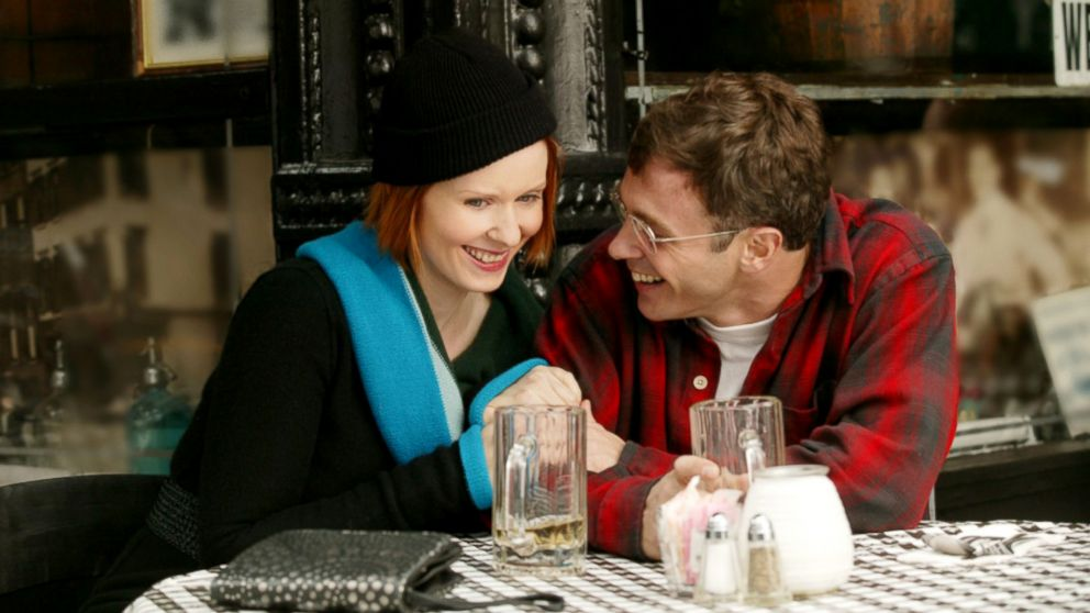 PHOTO: Cynthia Nixon, as Miranda Hobbes, and David Eigenberg, as Steve Brady, in a scene from Sex and the City.