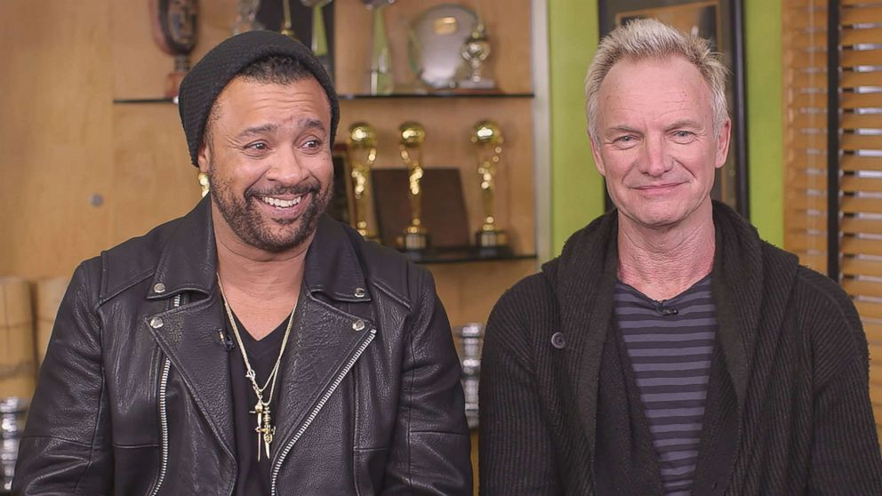 PHOTO: Shaggy and Sting are interviewed by ABC News in this image made from video.