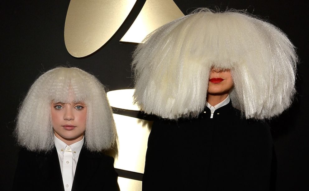 PHOTO: Maddie Ziegler, left, and singer/songwriter Sia attend the 57th Annual Grammy Awards at the Staples Center, Feb. 8, 2015, in Los Angeles.