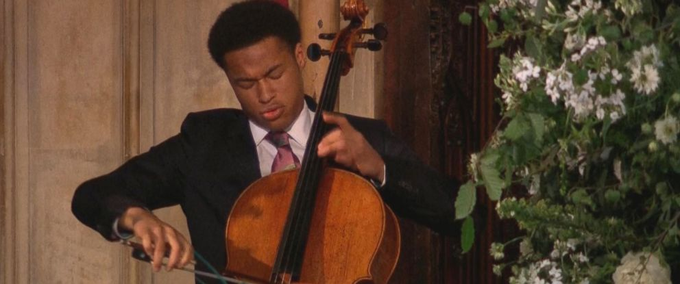 PHOTO: Cellist Sheku Kanneh-Mason performs during the royal wedding of Prince Harry and Meghan Markle on May 19, 2018.