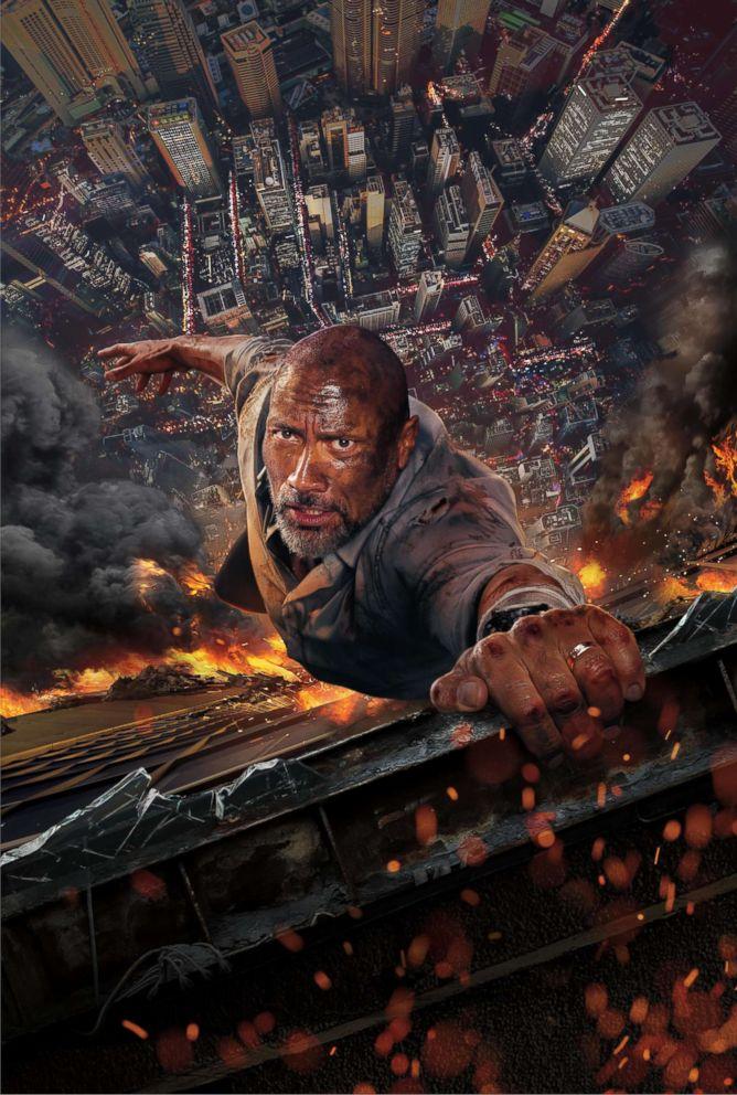 """Dwayne Johnson in a scene from """"Skyscraper."""""""