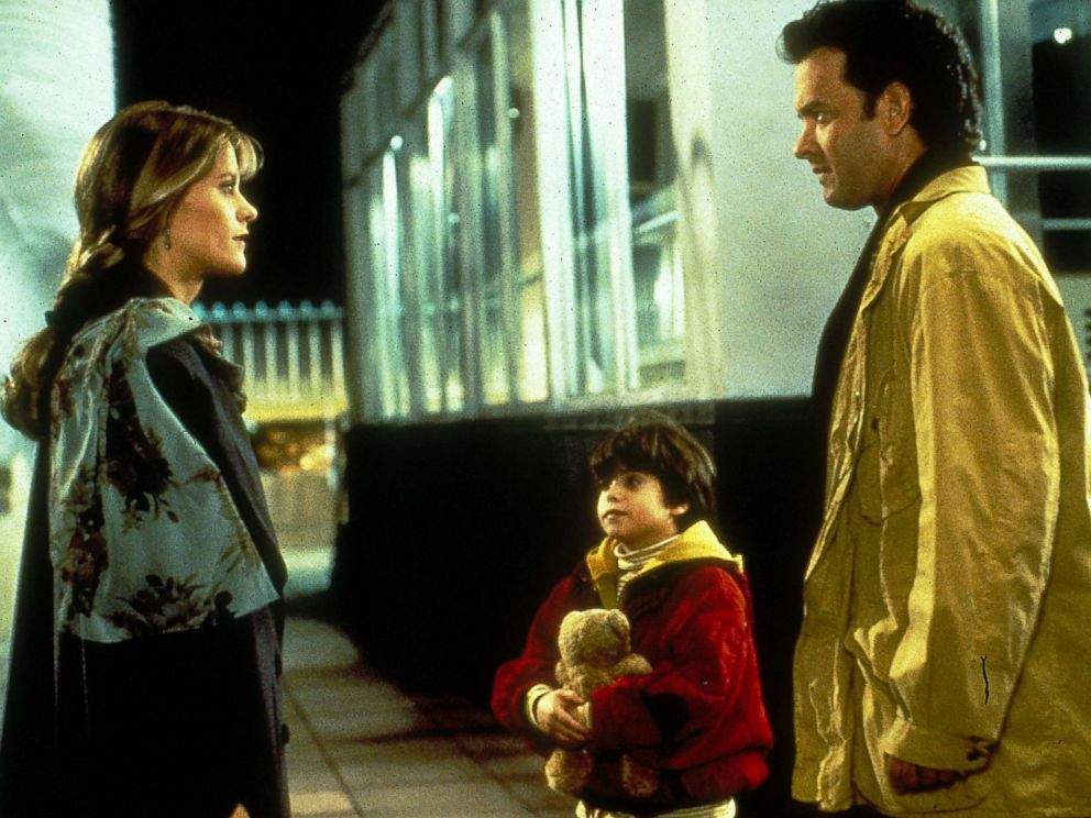 PHOTO: Meg Ryan, as Annie Reed, and Tom Hanks, as Sam Baldwin, in a scene from Sleepless in Seattle.