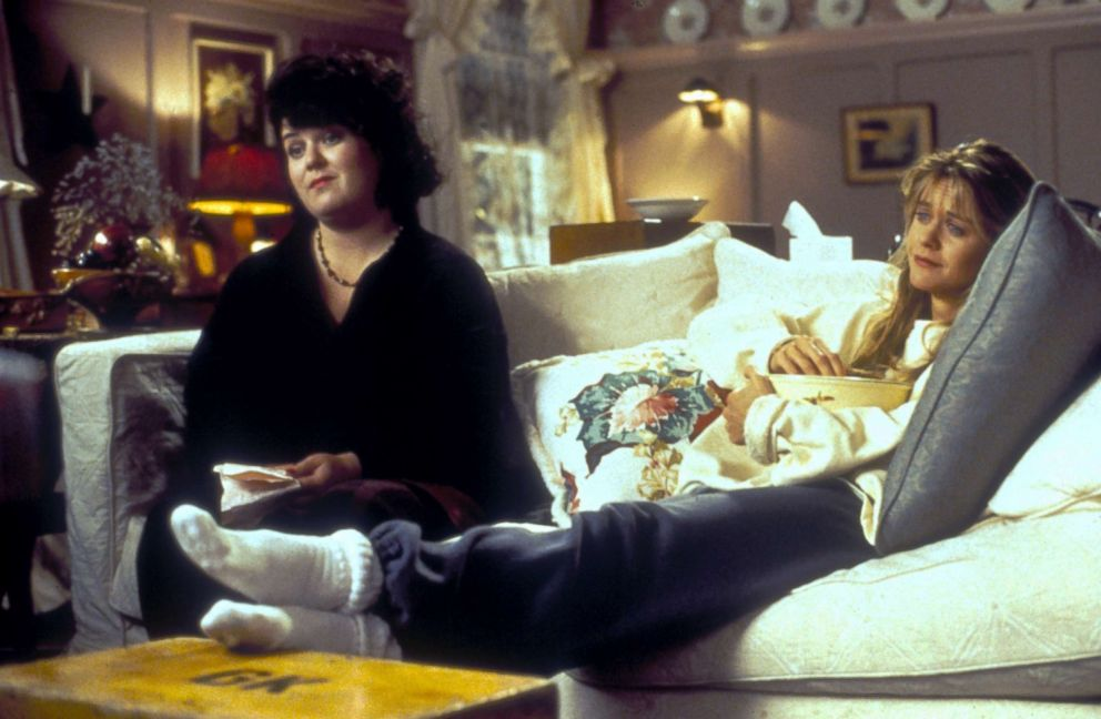 PHOTO: Rosie ODonnell, as Becky, left, and Meg Ryan, as Annie Reed, in a scene from Sleepless in Seattle.