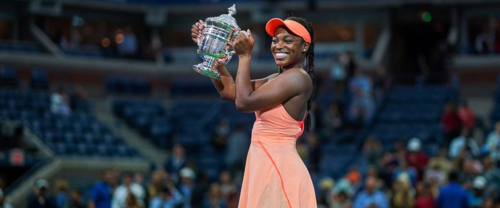PHOTO: Sloane Stephens of the U.S. wins the U.S. Open womens singles final against Madison Keys of the U.S. at Arthur Ashe Stadium in New York City, Sept. 9, 2017.