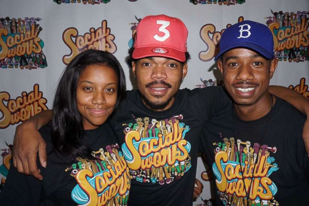 SocialWorks founders Essence Smith, Chance the Rapper and Justin Cunningham.