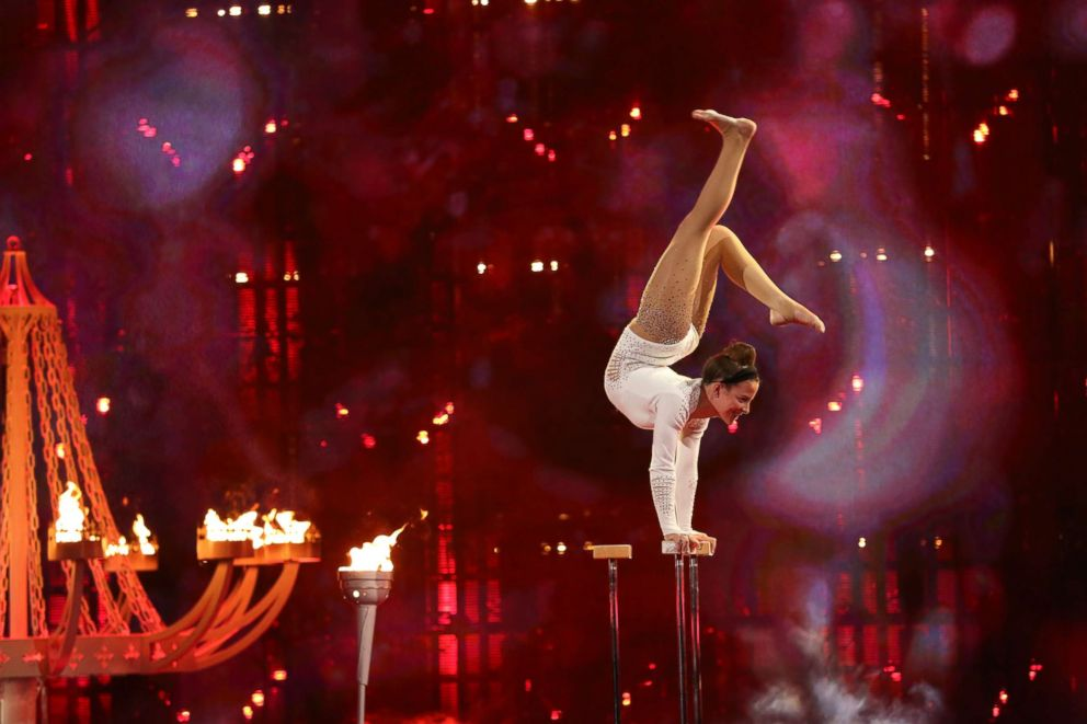 PHOTO: Sofie Dossi on Americas Got Talent.