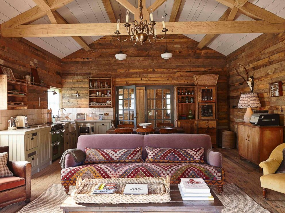 PHOTO: The interior of a cabin at Soho Farmhouse Oxfordshire is pictured here.
