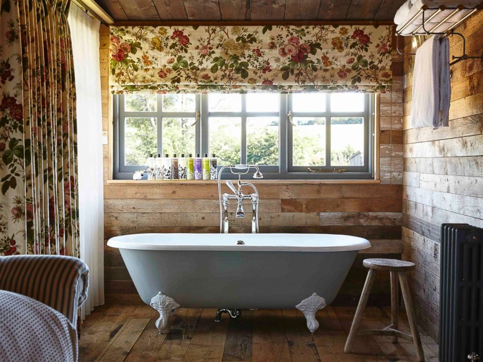 PHOTO: The bath inside a cabin at Soho Farmhouse Oxfordshire is pictured here.
