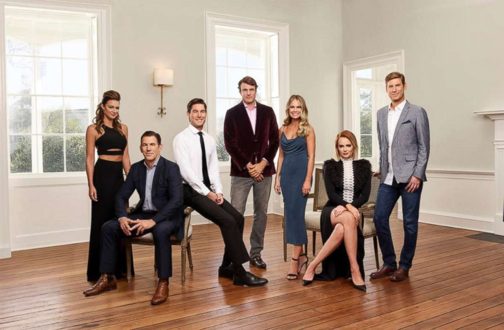 PHOTO: The cast of Southern Charm, season five is Chelsea Meissner, Thomas Ravenel, Craig Conover, Shepard Rose, Cameran Eubanks, Kathryn Dennis, and Austen Kroll.