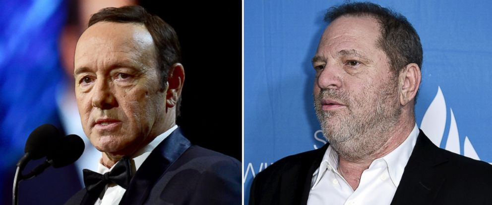 PHOTO: Kevin Spacey, left, and Harvey Weinstein
