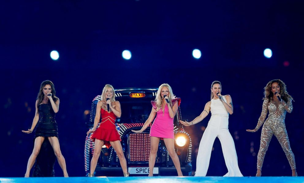 PHOTO: The Spice Girls perform during the closing ceremony of the London 2012 Olympic Games at the Olympic Stadium, Aug. 12, 2012.