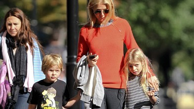 PHOTO: Gwyneth Paltrow and her kids, Apple Blythe Alison Martin and Moses Bruce Anthony Martin, seen at a playground in Tribeca, New York City, Oct. 16, 2011.
