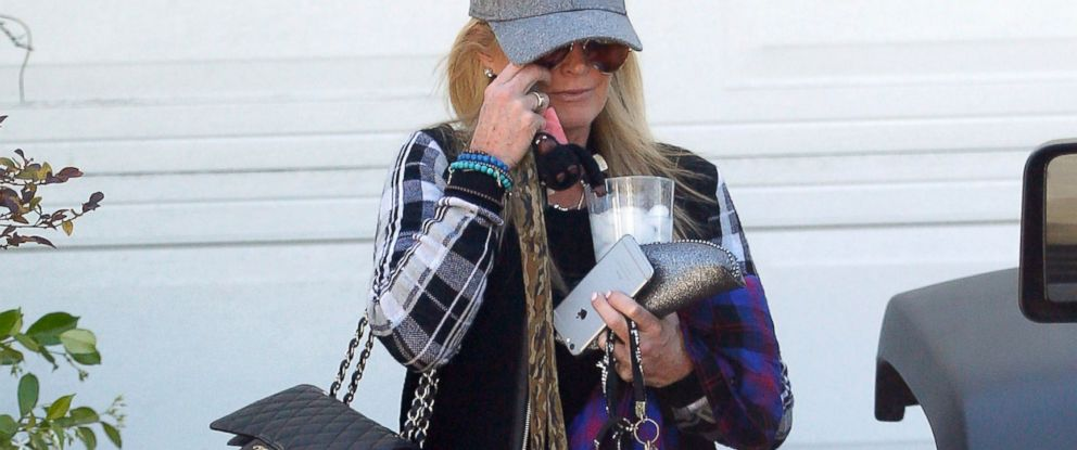 PHOTO: Real Housewives of Beverly HIlls star Kim Richards seen in Los Angeles after hotel arrest, April 16, 2015.