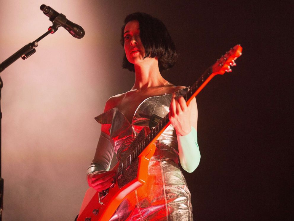 PHOTO: St. Vincent performs on stage during opening night of the Fear The Future tour as part of the Red Bull Music Academy Festival Los Angeles at Paramount Studios, Oct. 7, 2017 in Hollywood, Calif.