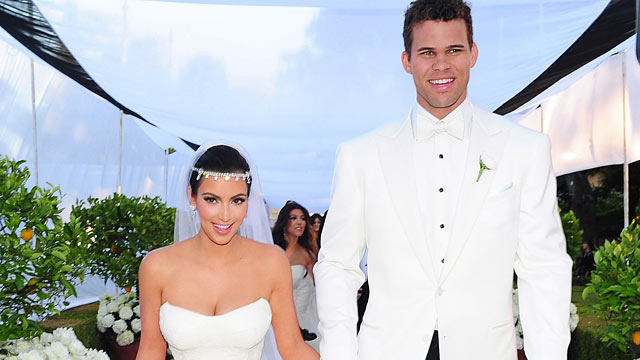 PHOTO: Kim Kardashian marries, NBA Basketball player Kris Humphries at a private estate in Monetecito, CA.