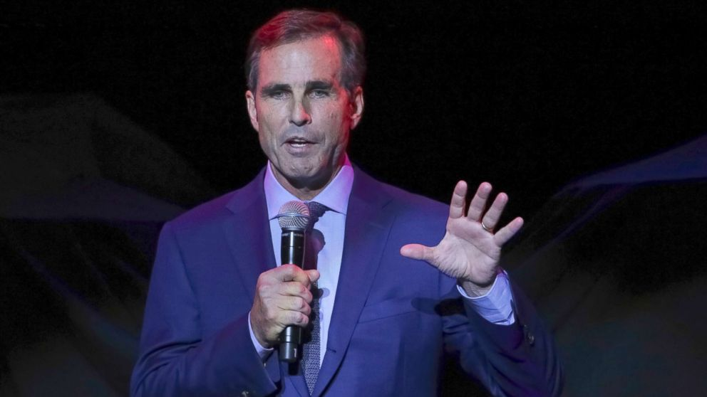 Bob Woodruff, the Co-Founder of the Bob Woodruff Foundation, speaks on stage during the 11th Annual Stand Up for Heroes benefit Nov. 7, 2017, in New York, N.Y.