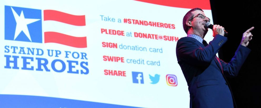 PHOTO: John Oliver at the 11th Annual Stand Up for Heroes, presented by the New York Comedy Festival and The Bob Woodruff Foundation, Nov. 7, 2017, in New York, N.Y.