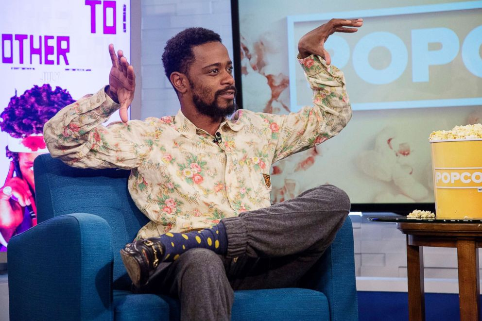 PHOTO: Lakeith Stanfield appears on Popcorn with Peter Travers at ABC News studios, June 21, 2018, in New York City.