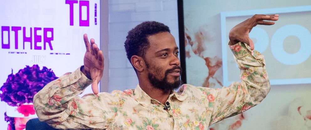 "PHOTO: Lakeith Stanfield appears on ""Popcorn with Peter Travers"" at ABC News studios, June 21, 2018, in New York City."