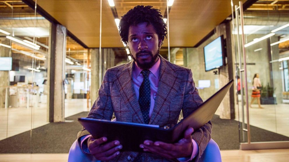 """Lakeith Stanfield in a scene from """"Sorry to Bother You."""""""