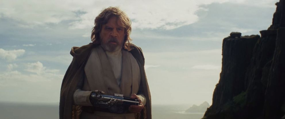 "PHOTO: Mark Hamill, as Luke Skywalker, in a scene from ""Star Wars: The Last Jedi"" official trailer."