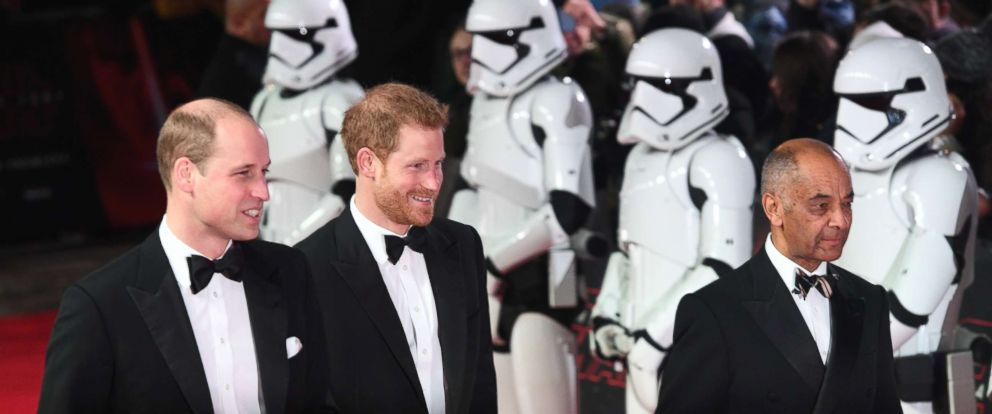 PHOTO: Prince William and Prince Harry arrive at the UK Premiere of Star Wars:The Last Jedi at the Royal Albert Hall in London, Dec. 12, 2017.