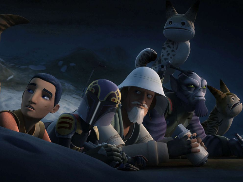 PHOTO: Star Wars Rebels episode, Flight of the Defender.