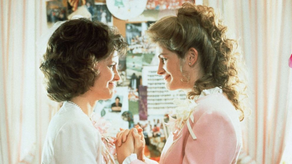 """Sally Field and Julia Roberts in a scene from """"Steel Magnolias"""" in 1989."""