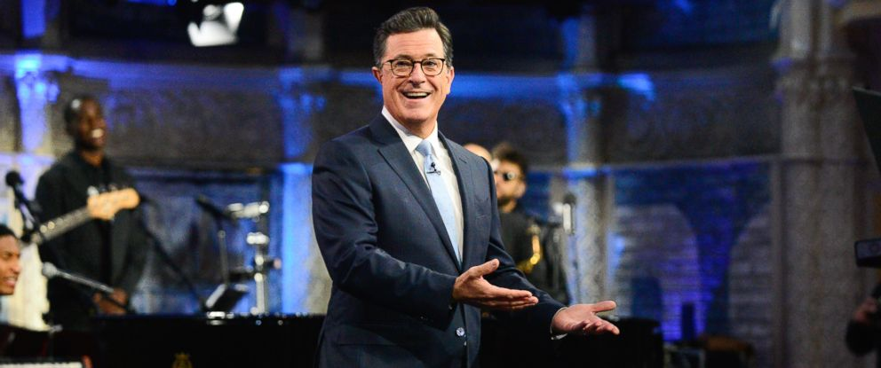 "PHOTO: Stephen Colbert is pictured on ""The Late Show with Stephen Colbert,"" Aug. 3, 2017."