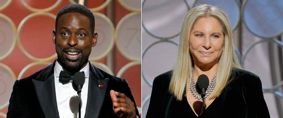 PHOTO: Sterling K. Brown and Barbra Streisand appear during the 75th Annual Golden Globe Awards on Jan. 7, 2018 in Beverly Hills, Calif.